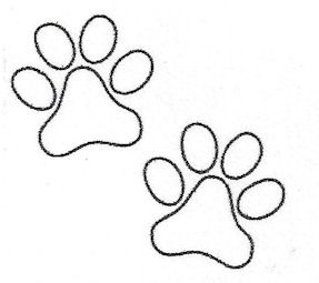 cat paw print outline